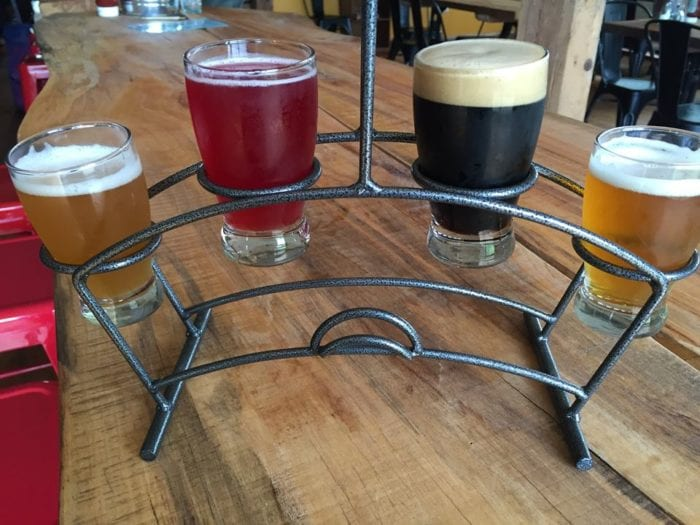 Throwback Brewery features a wide variety of beer styles