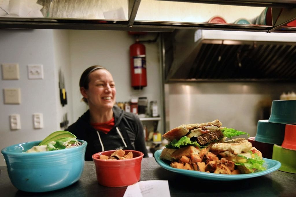 Throwback Brewery's Chef, Carrie Dahlgren