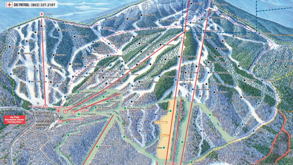 Jay Peak Map