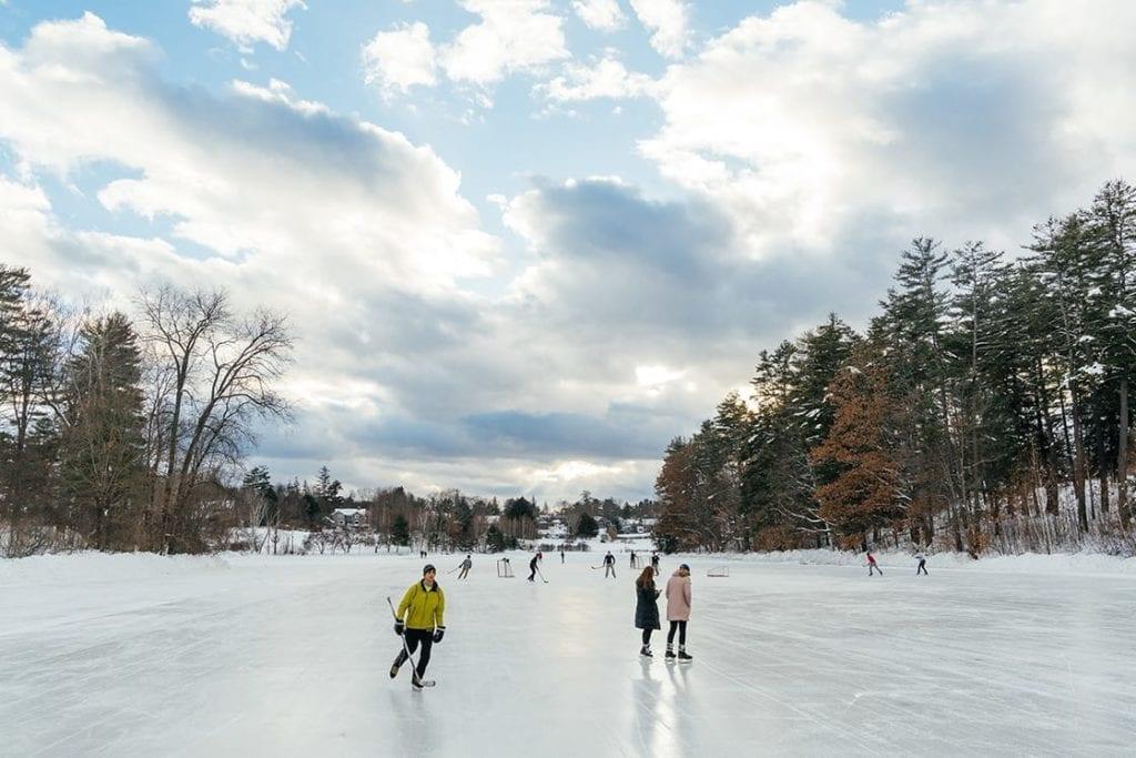 Occom Pond Ice Skating